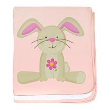 Easter Bunny Spring baby blanket