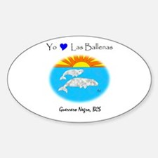 Gray Whales Oval Decal
