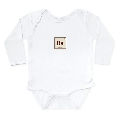 Vintage Bacon Long Sleeve Infant Bodysuit