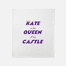 Castle: Kate is Queen Throw Blanket