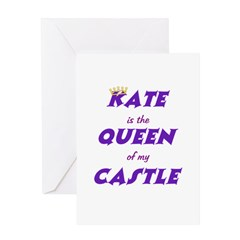 Castle: Kate is Queen Greeting Card