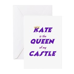 Castle: Kate is Queen Greeting Cards (Pk of 10)