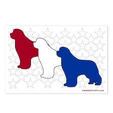Patriotic Newfies Postcards (Package of 8)