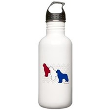 Patriotic Newfies Water Bottle
