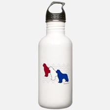 Patriotic Newfies Water Bottle