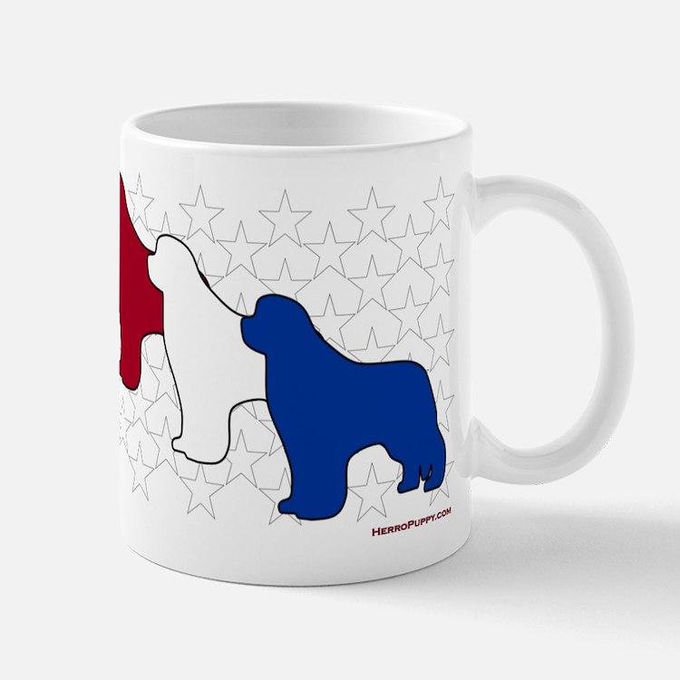 Patriotic Newfies Mug