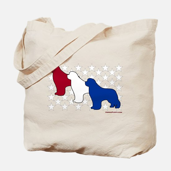 Patriotic Newfies Tote Bag