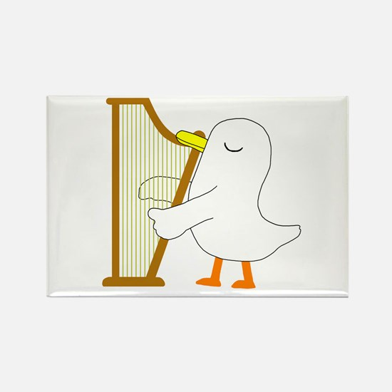 Harpist Rectangle Magnet