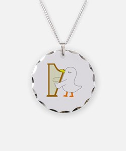 Harpist Necklace Circle Charm