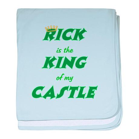 Castle: Rick is King baby blanket