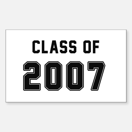 Class of 2007 Black Decal