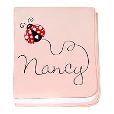 Ladybug Nancy baby blanket