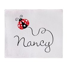 Ladybug Nancy Throw Blanket