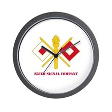 DUI - 258th Signal Company with Text Wall Clock