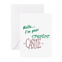 Castle quote: I'm Your Creator Greeting Cards (Pk