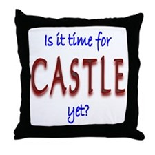Time For Castle Throw Pillow