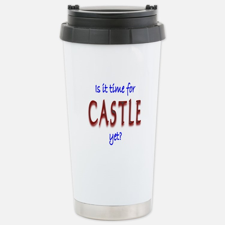 Time For Castle Stainless Steel Travel Mug