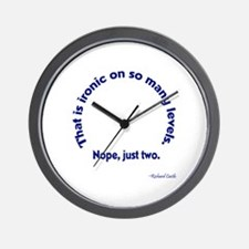 Castle: Ironic On Many Levels Wall Clock