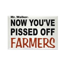 pissed off farmers Rectangle Magnet