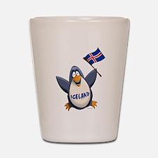 Iceland Penguin Shot Glass