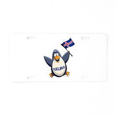 Iceland Penguin Aluminum License Plate