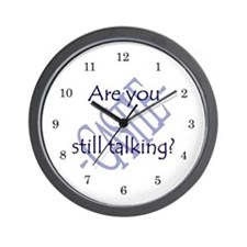 Beckett Quote - Still Talking Wall Clock