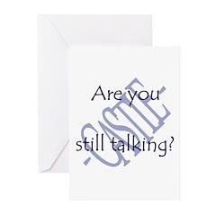 Beckett Quote - Still Talking Greeting Cards (Pk o
