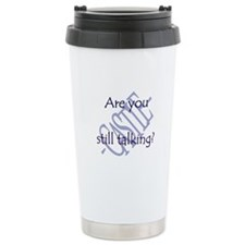 Beckett Quote - Still Talking Travel Mug
