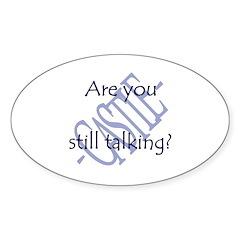 Beckett Quote - Still Talking Sticker (Oval 50 pk)