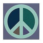 Peace Sign CERAMIC TILE COASTER