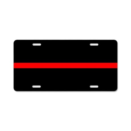 The Thin Red Line Aluminum License Plate