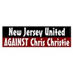 New Jersey Against Chris Christie bumper sticker