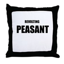 Revolting Peasant Throw Pillow