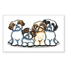 Four Shih Tzus Decal