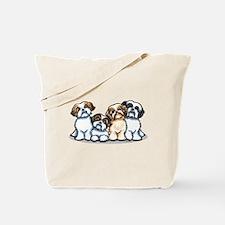 Four Shih Tzus Tote Bag