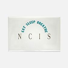 Eat Sleep Breathe NCIS Rectangle Magnet