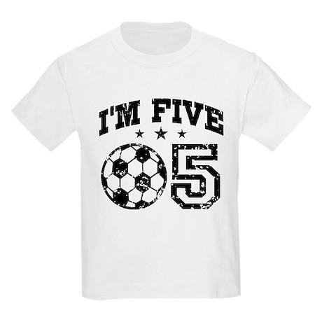 Five Year Old Soccer Kids Light T-Shirt
