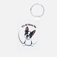 Boston Terrier IAAM Aluminum Photo Keychain