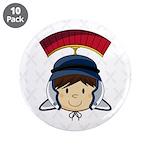 "Cute Roman Soldier 3.5"" Button (10 Pk)"