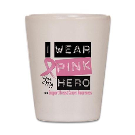 Pink Hero Breast Cancer Shot Glass