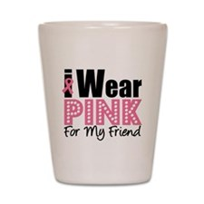 I Wear Pink Shot Glass