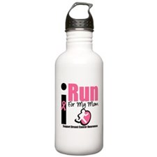 I Run For Breast Cancer Water Bottle