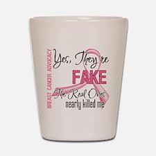Fake 3 - Breast Cancer Shot Glass