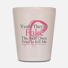 Fake 2 - Breast Cancer Shot Glass