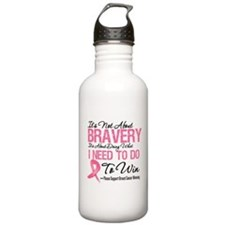 Breast Cancer Bravery Water Bottle