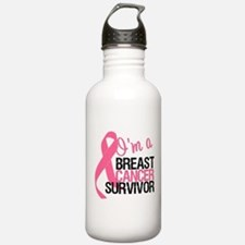 I'm a Breast Cancer Survivor Water Bottle