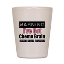 Chemo Brain (pink) Shot Glass