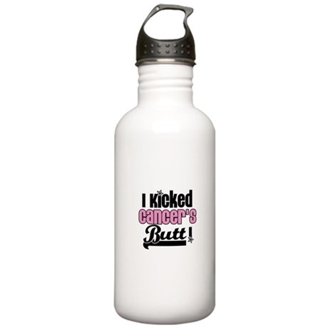 I Kicked Cancer's Butt Stainless Water Bottle 1.0L