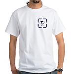 The Celtic Crane front/back White T-Shirt
