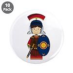 "Cute Little Roman Soldier 3.5"" Button (10 Pk)"